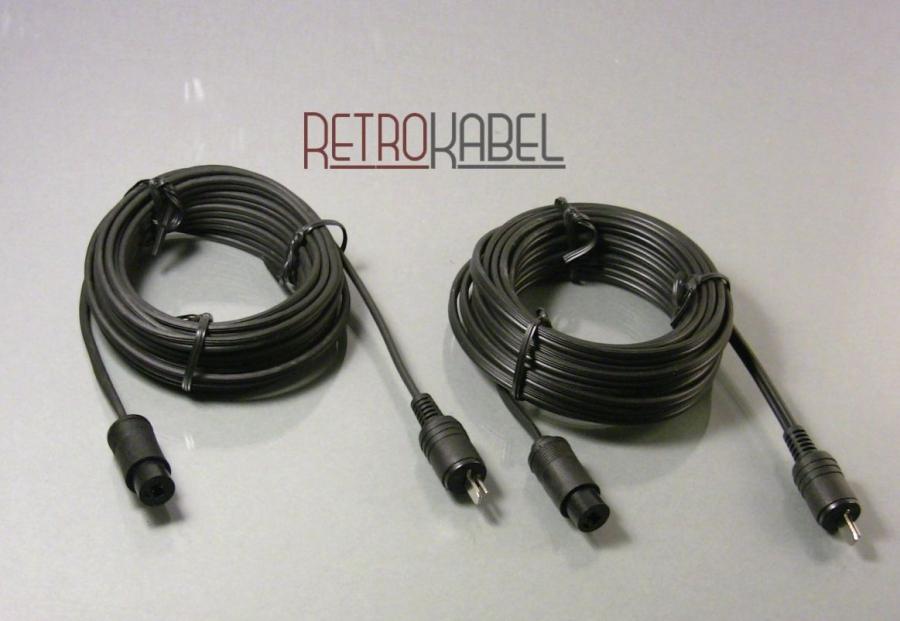 retrokabel lautsprecherkabel mit din stecker kupplung. Black Bedroom Furniture Sets. Home Design Ideas